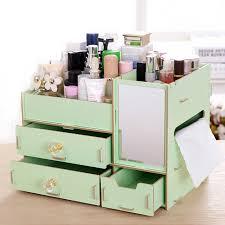 box diy fixed wooden makeup organizer