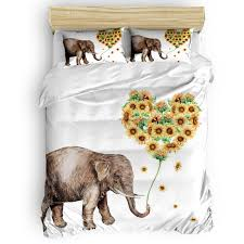 duvet cover loving sunflower and