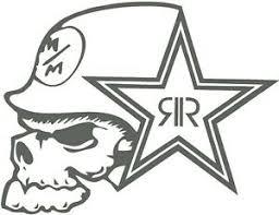 Metal Mulisha Rock Star Car Decal Sticker Charcoal 15 3 X 11 8 Ebay