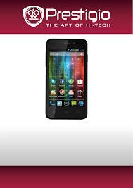 Handleiding Prestigio MultiPhone 5400 ...
