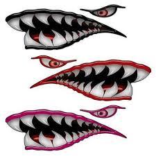 Weston Ink Flying Tigers Shark Teeth Decals