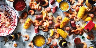 low country boil with shrimp corn and