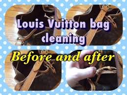 louis vuitton bag cleaning before and