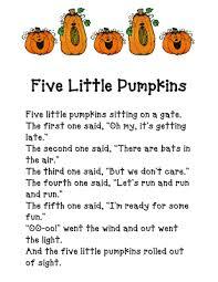 Five Little Pumpkins Fun In First