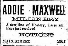 Addie Taylor Maxwell advert - Newspapers.com