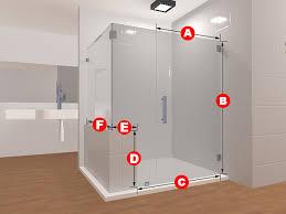 90 degree frameless glass shower layout