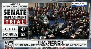 Image result for impeachment trial on Wednesday 2/5/2020