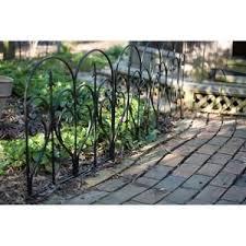 Default Title Garden Edging Black Garden Fence Iron Fence