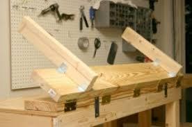 homemade wooden sheet metal brake