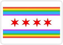 Amazon Com Chicago Rainbow Pride Flag 2015 Sticker Graphic Bumper Window Sicker Decal Gay Pride Sticker Automotive