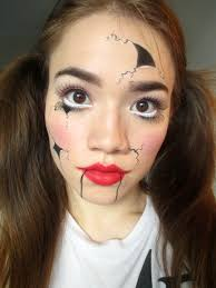this easy broken doll makeup uses