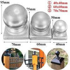 60x60mm 2 4x2 4 Silver Metal Round Ball Fence Finial Post Cap Protect For Square Posts Intl Lazada Ph