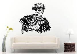 Rap Hip Hop Urban Legend Super Star Famous Celebrity Wall Decal Vinyl Sticker Mural Room Decor L922 Vinyl Wall Decals Wall Decals Wall Decor Stickers