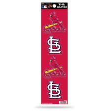 Rico Mlb St Louis Cardinals The Quad 4 Pack Auto Decal Car Sticker Set Sportzzone