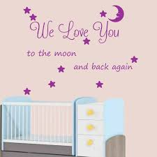 We Love You To The Moon And Back Wall Art Wall Sticker Etsy