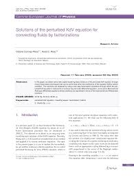 Solutions of the perturbed KdV equation for convecting fluids by  factorizations – topic of research paper in Physical sciences. Download  scholarly article PDF and read for free on CyberLeninka open science hub.