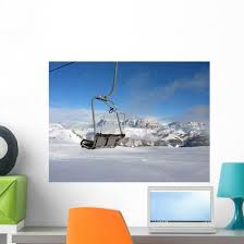 Chairlift Dolomites Wall Decal Wallmonkeys Com