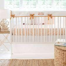 moon and stars crib bedding new
