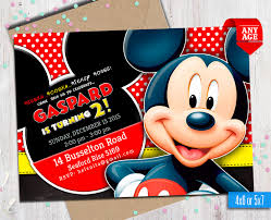 Invitaciones De Mickey Mouse Para Editar Archivos Decoracion De