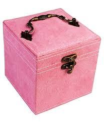 pink 3 layer velvet jewellery box