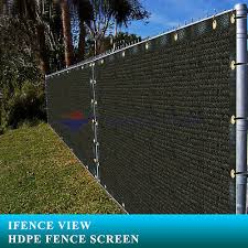 Ifenceview 4 X20 Black Fence Privacy Screen Mesh For Construction Yard Garden Ebay