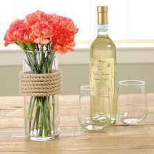 pretty diy flower vase use rope