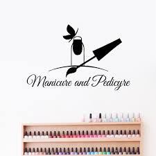 Nail Salon Quotes Wall Window Decal Nails Art Polish Pattern Design Manicure And Pedicure Vinyl Sticker Beauty Salon Wall Decor Leather Bag
