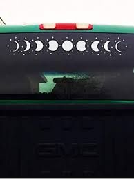 Amazon Com Celycasy Moon Phases And Stars Car Decal Phases Of The Moon Starlight Mens Womens Car Sticker 4 X 25 Home Improvement