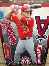 Mike Trout Los Angeles Angels 10 5 X16 5 6 Piece Fathead Wall Graphic Decals Ebay