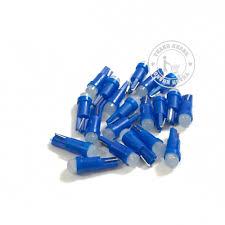 Bộ 20 bóng đèn led báo số xe máy chân T5 màu xanh dương 006001418