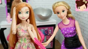 frozen anna doll make over at rapunzels