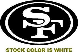 Sf 49ers Oval Logo Decal Vinyl Sticker San Francisco Football Car Nfl Niners Ebay