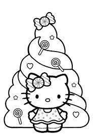 Hello Kitty Christmas Coloring Sheets Kleurplaten Hello Kitty