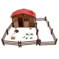 Simulation Children Farm Diy Toy Mini Farmhouse Scene Model Accessories Set 14pcs Fences Fork Broom Wooden Box Haystack Model Building Kits Aliexpress