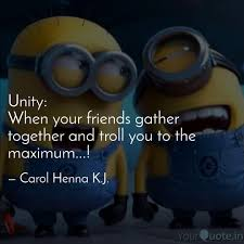 unity when your friends quotes writings by carol henna