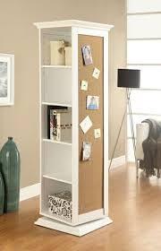 finish wood rotating storage cabinet
