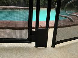 Life Saver Pool Fence Gate48r Diyc Diy Removable Mesh Safety Fence For Pools Brown Amazon In Garden Outdoors