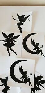 6 X Fairy Small Vinyl Decal Stickers 2 Of Each Crafts Wine Bottle Wall Glasses Ebay
