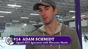 Adam Schmidt Signs ATO With Worcester Sharks (Holy Cross Athletics) -  YouTube