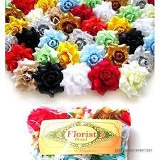 "100) Assorted Silk Roses Flower Head - 1.75"" - Artificial Flowers ..."