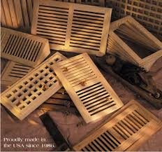 wood vents hvac air grilles registers