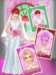 wedding salon spa makeover dress up