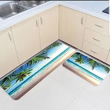 rugs set tropical beach sand palm tree