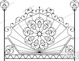Wrought Iron Gate Door Fence Window Grill Railing Design Stock Vector Vector And Low Budget Royalty Free Image Pic Esy 052642491 Agefotostock