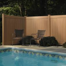 6 Ft H X 8 Ft W Cedar Grove Chestnut Brown Vinyl Privacy Fence Panel Amazon Co Uk Welcome