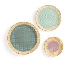 yokou hand woven bamboo wall baskets
