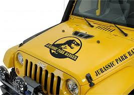 Jurassic Park Ranger Hood Decal To Fit On Jeep Wrangler Set Of 5 Pieces Ebay