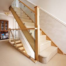 Oak and Glass Staircase - Neville Johnson