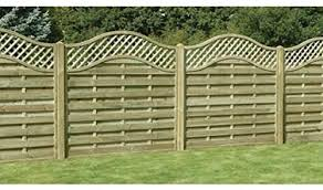 Ruby 6ft Omega Lattice Top Wooden Fence Panel Various Heights 1 5m X 1 8m Amazon Co Uk Garden Outdoors