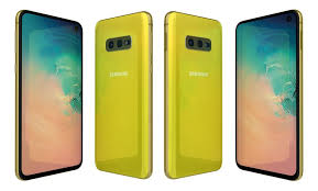 samsung galaxy s10e canary yellow 3d